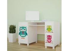 Detský písací stôl FAREBNÉ sovička - TYP 1