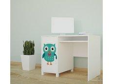 Detský písací stôl FAREBNÉ sovička - TYP 11