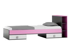 Detská posteľ so zásuvkami - PINK TYP B 200x90 cm