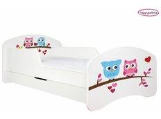 Detská posteľ so zásuvkou sovička A SRDIEČKA