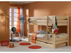 Detská poschodová posteľ Barco PLUS so zásuvkami - prírodná