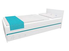 Detská posteľ so zásuvkou - STARS 200x90 cm - tyrkysová