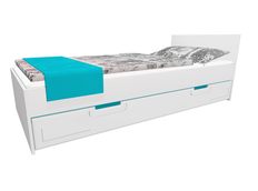 Detská posteľ so zásuvkou - BOSTON 200x90 cm - tyrkysová