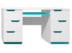 Písací stôl - MODERN TYP B - tyrkysová