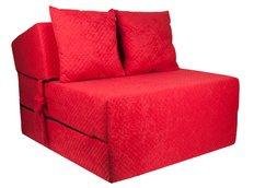 Rozkládací molitanové křeslo (matrace) - červené