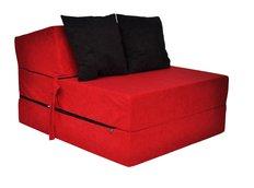 Rozkladacie molitanové kreslo (matrac) - červené