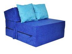 Rozkladacie molitanové kreslo (matrac) - modré