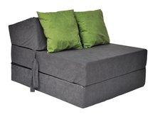 Rozkladacie molitanové kreslo (matrac) - šedé