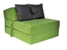 Rozkladacie molitanové kreslo (matrac) - zelené