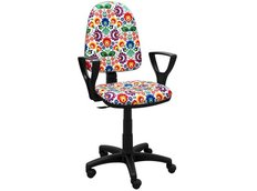 Detská otočná stolička BRENDA - FOLK svetlá