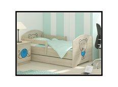 Detská posteľ s výrezom MÉĎA - modrá 140x70 cm