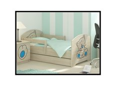 Detská posteľ s výrezom MAČIČKA - modrá 160x80 cm