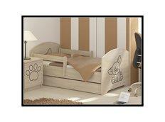 Detská posteľ s výrezom PSÍK - prírodná 160x80 cm