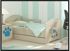 Detská posteľ s výrezom PSÍK - modrá 160x80 cm