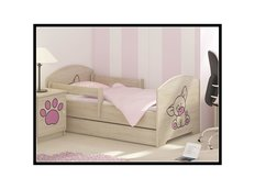 Detská posteľ s výrezom PSÍK - ružová 140x70 cm