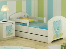Detská posteľ MODRÝ MACKO 160x80 cm