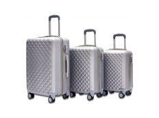 Cestovné kufre SOLIS - strieborné