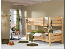 Detská poschodová posteľ Barco 180x80 cm - prírodná