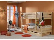 Detská poschodová posteľ Barca PLUS 180x80 cm so zásuvkami - prírodná