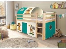 Detská vyvýšená posteľ SAFARI - PRÍRODNÉ
