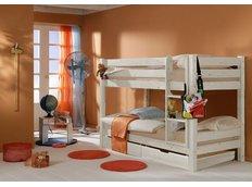 Detská poschodová posteľ Barca PLUS 200x90 cm so zásuvkami - biela