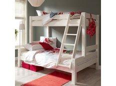 Detská poschodová posteľ s rozšíreným spodným lôžkom z MASÍVU 200x80cm so zásuvkami PAVLÍNA
