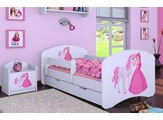 749f3f0d780d1 Detská posteľ so zásuvkou 160x80cm PRINCEZNA A KONÍK
