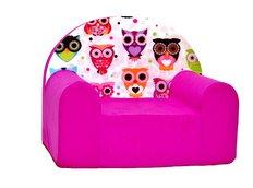 Detské kresielko sovička - ružové