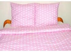 Detské bavlnené obliečky bodky - ružové