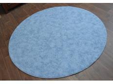 Okrúhly koberec SERENADE - svetlo modrý