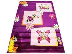 Detský koberec FIALA CHROBÁČIKY