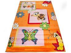 Detský koberec oranž CHROBÁČIKY