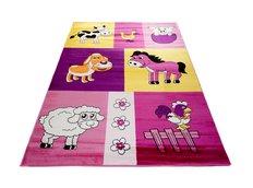Detský koberec FARMA ružová 2
