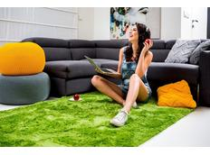 Detský plyšový koberec ZELENÝ