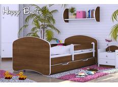 Detská posteľ so zásuvkou 140x70 cm - ORECH