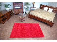Kusový koberec SHAGGY - bordó