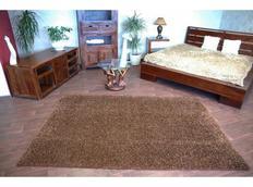 Kusový koberec SHAGGY - hnedý