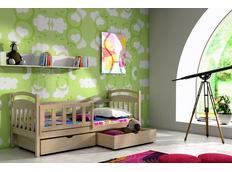 Detská posteľ z masívu so zásuvkou - DP001