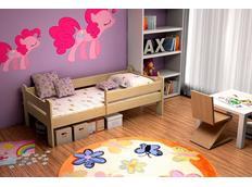 Detská posteľ z masívu bez šuplíku - DP012