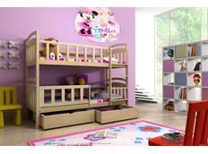 Detská poschodová posteľ z masívu bez šuplíku - PP005