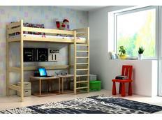 Vyvýšená detská posteľ z masívu - ZP004