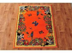 Detský koberec FUNKY ZOO orange