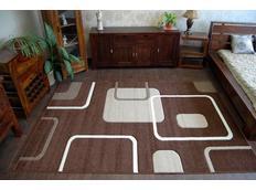 Moderné koberec HNEDÝ 7776
