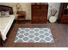 Moderné koberec PLETIVO sivý