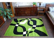 Moderné koberec ZELENÝ H203-8405