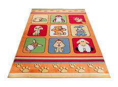 Detský koberec klubík - oranžový