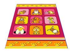Detský koberec klubík - ružový