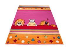 Detský koberec ZVIERATKÁ - ružový