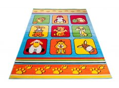 Detský koberec klubík - modrý