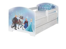 Detská posteľ Disney - ĽADOVEJ KRÁĽOVSTVO 140x70 cm